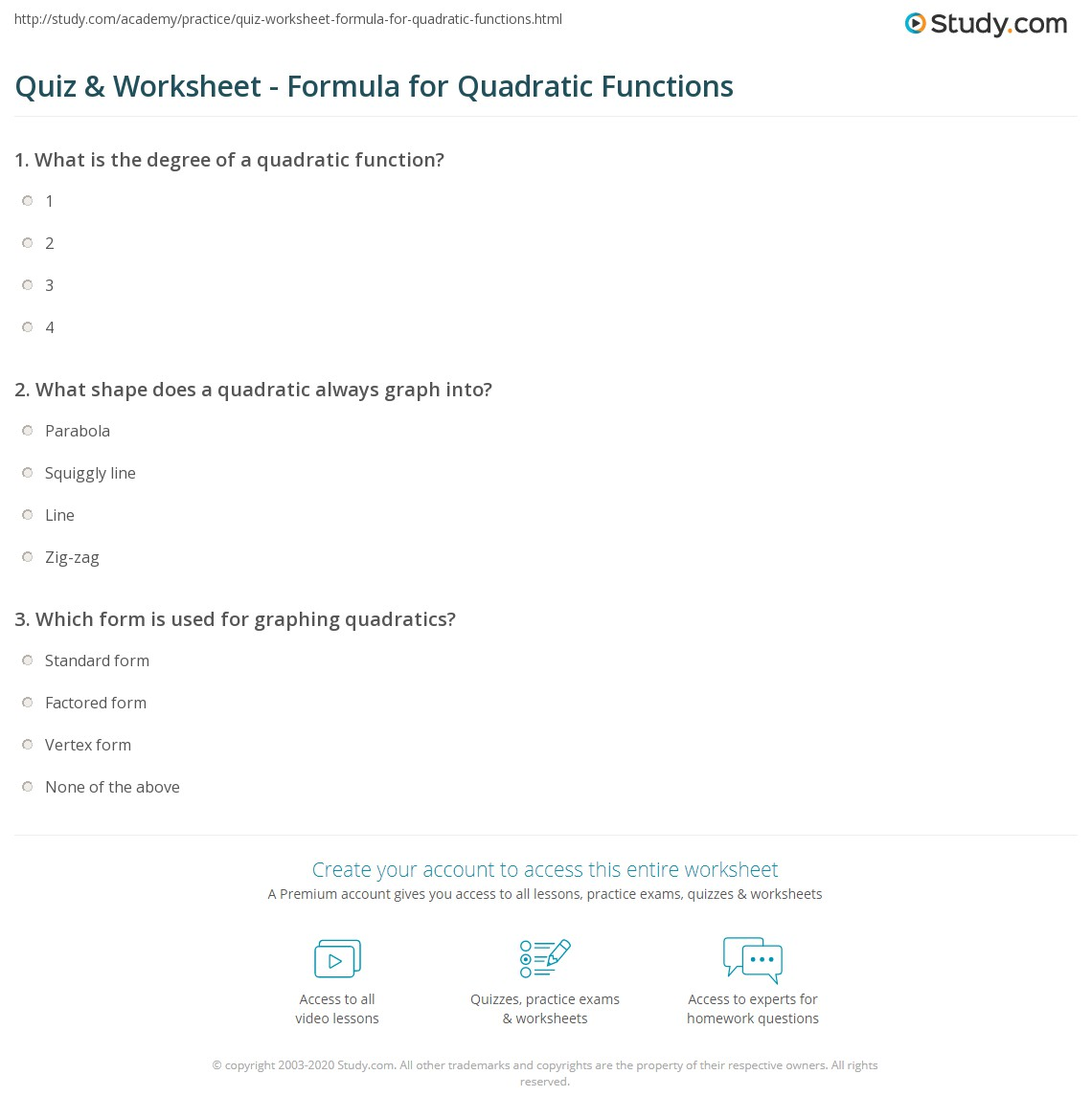 Worksheet Graphing Quadratic Functions In Standard Form Worksheet Worksheet Fun Worksheet