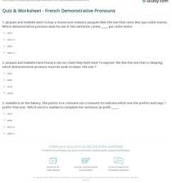 Quiz \u0026 Worksheet - French Demonstrative Pronouns   Study.com [ 1253 x 1140 Pixel ]