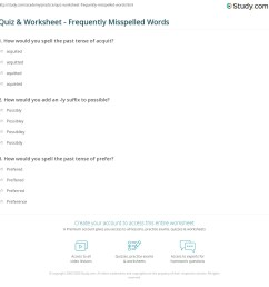 Commonly Misspelled Words Worksheet - Nidecmege [ 1169 x 1140 Pixel ]