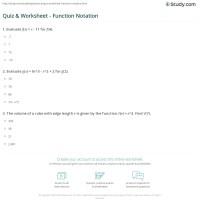worksheet. Algebra 1 Function Notation Worksheet Answers ...