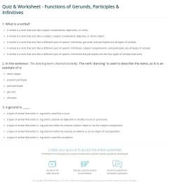 Quiz \u0026 Worksheet - Functions of Gerunds [ 1308 x 1140 Pixel ]