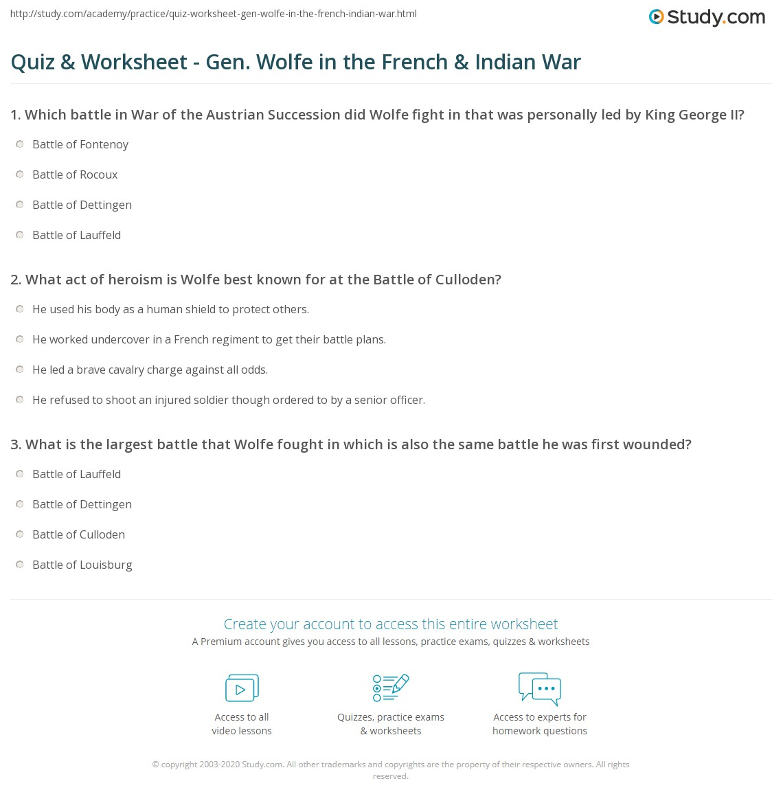 hight resolution of French And Indian War Worksheet Answers - Promotiontablecovers