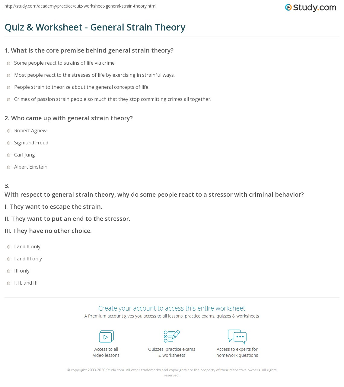 General Strain Theory Definition