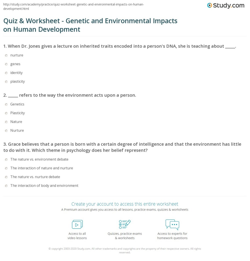 medium resolution of Learned Vs Inherited Traits Worksheet - Promotiontablecovers