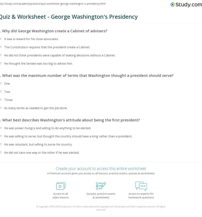 Washington S Cabinet Worksheet Digitalstudiosweb