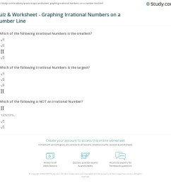 Quiz \u0026 Worksheet - Graphing Irrational Numbers on a Number Line   Study.com [ 1124 x 1140 Pixel ]