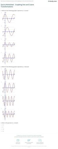 Quiz & Worksheet - Graphing Sine and Cosine ...
