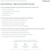 Life Skills Worksheets For Middle School Students - The ...