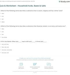 Quiz \u0026 Worksheet - Household Acids [ 1169 x 1140 Pixel ]
