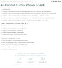 Atoms And Molecules Worksheet. Worksheets. Ratchasima ...