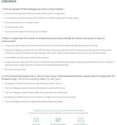 Quiz \u0026 Worksheet - How Dialogue Propels Action in Literature   Study.com [ 1452 x 1140 Pixel ]