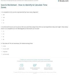 Quiz \u0026 Worksheet - How to Identify \u0026 Calculate Time Zones   Study.com [ 1236 x 1140 Pixel ]