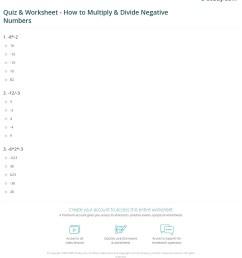 Quiz \u0026 Worksheet - How to Multiply \u0026 Divide Negative Numbers   Study.com [ 1280 x 1140 Pixel ]