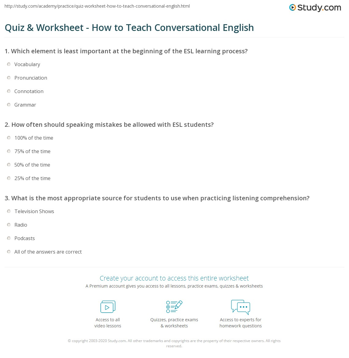 Printables Of English Worksheet Quiz