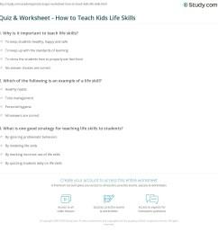 Quiz \u0026 Worksheet - How to Teach Kids Life Skills   Study.com [ 1169 x 1140 Pixel ]