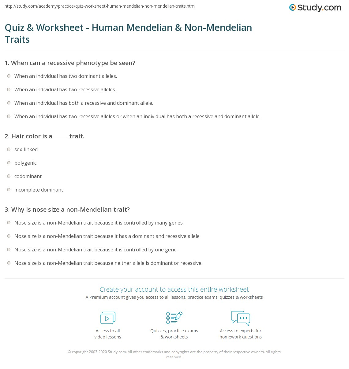 Worksheets Non Mendelian Genetics Worksheet Cheatslist