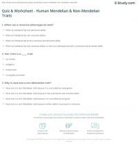 Worksheets. Non Mendelian Genetics Worksheet. waytoohuman ...