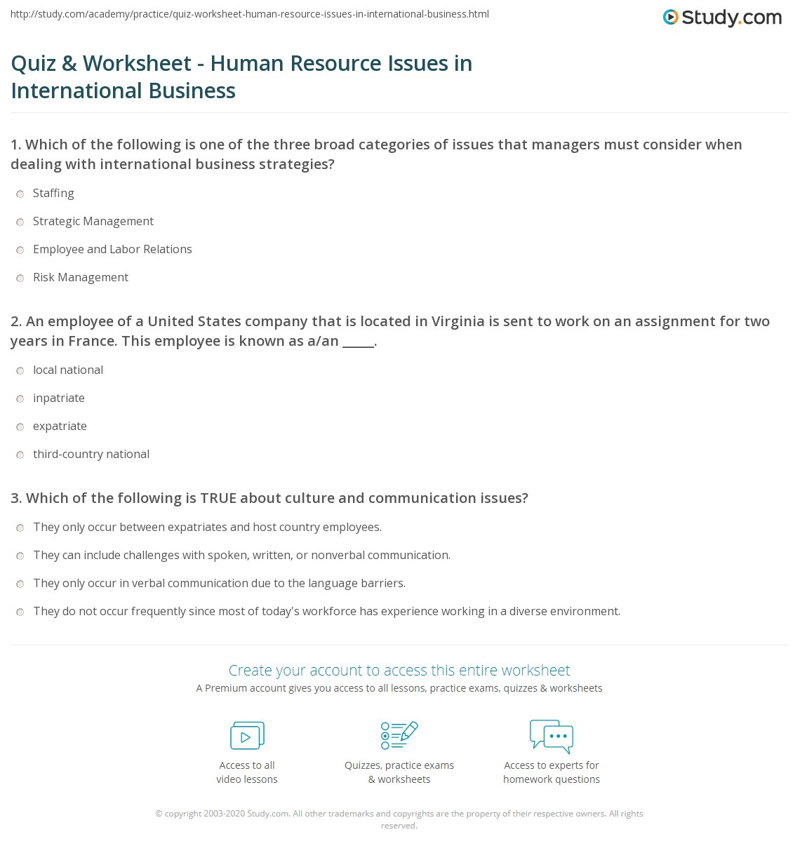 Virginia Resources Worksheet