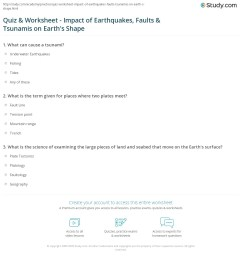 Quiz \u0026 Worksheet - Impact of Earthquakes [ 1213 x 1140 Pixel ]
