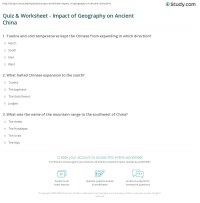 Quiz & Worksheet - Impact of Geography on Ancient China ...