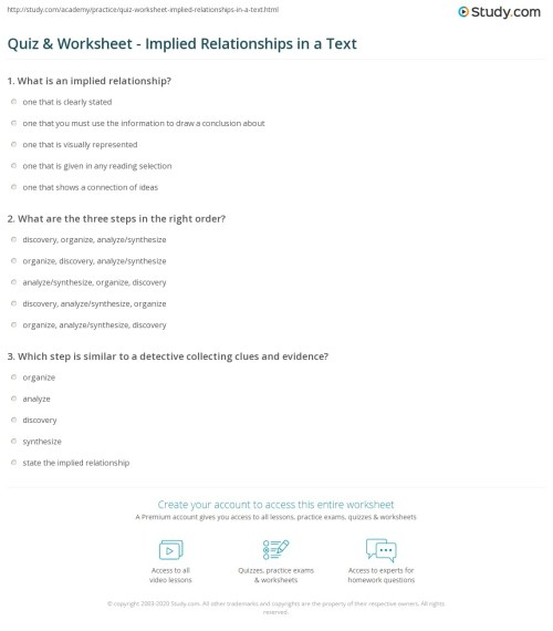 small resolution of Synthesize Reading Worksheet   Printable Worksheets and Activities for  Teachers
