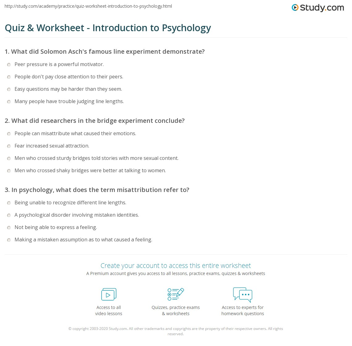 Printables High School Psychology Worksheets Eatfindr