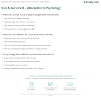 Psychology Worksheets For High School. Psychology. Best