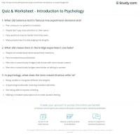 Psychology Worksheets For High School. Psychology. Best ...