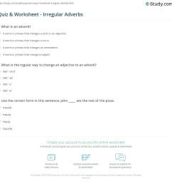 Quiz \u0026 Worksheet - Irregular Adverbs   Study.com [ 1153 x 1140 Pixel ]