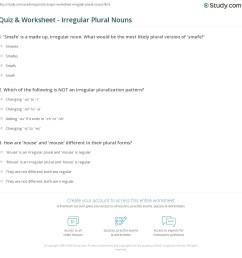 Quiz \u0026 Worksheet - Irregular Plural Nouns   Study.com [ 1169 x 1140 Pixel ]