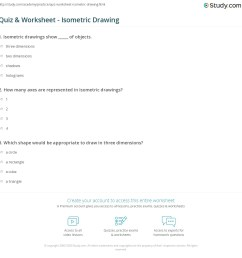 Quiz \u0026 Worksheet - Isometric Drawing   Study.com [ 1169 x 1140 Pixel ]