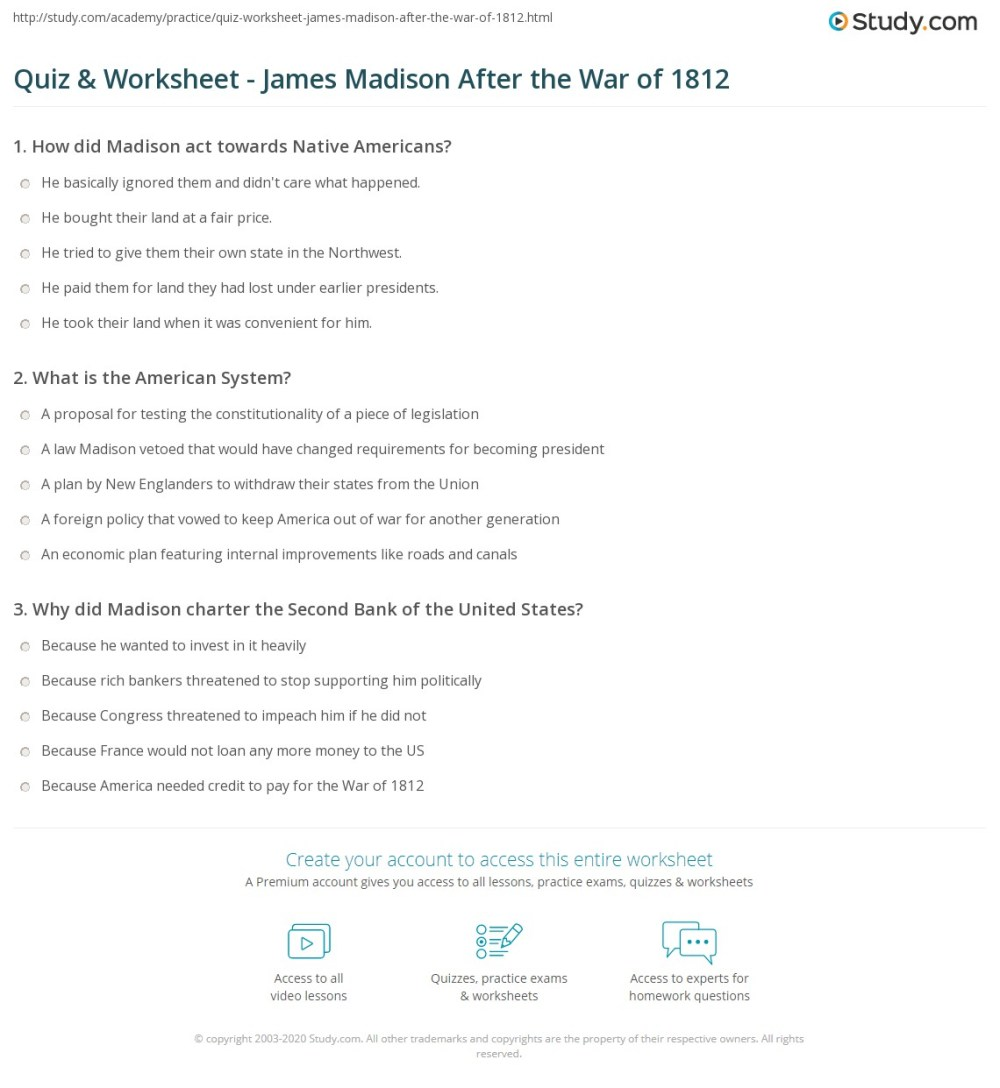 medium resolution of The War Of 1812 Map Study Worksheet   Printable Worksheets and Activities  for Teachers