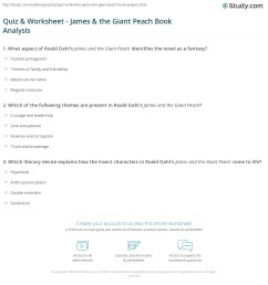Quiz \u0026 Worksheet - James \u0026 the Giant Peach Book Analysis   Study.com [ 1208 x 1140 Pixel ]