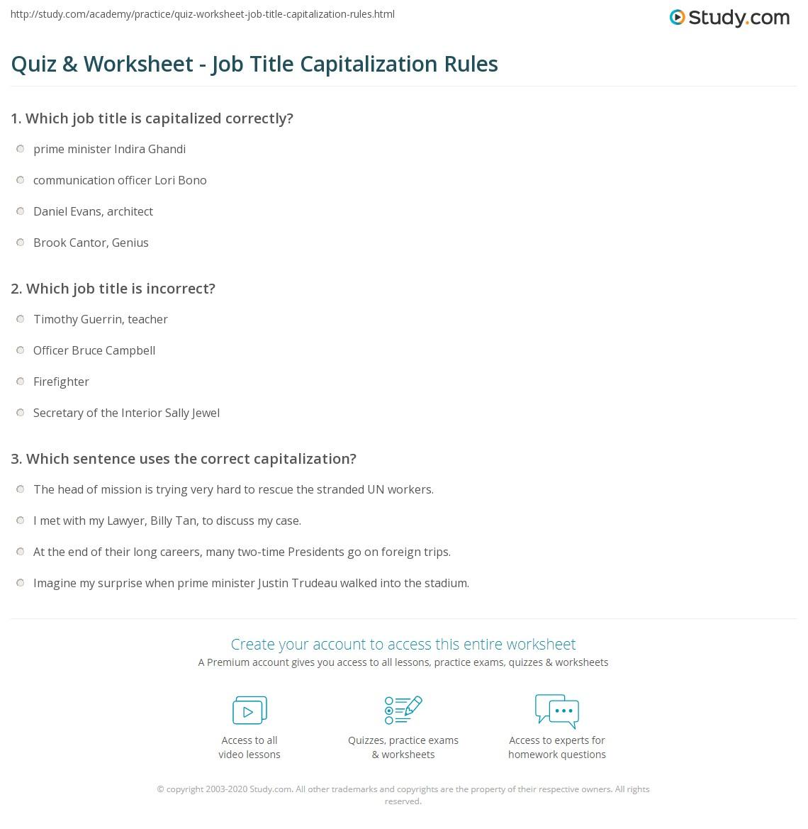 Worksheet Capitalization Worksheets High School Grass