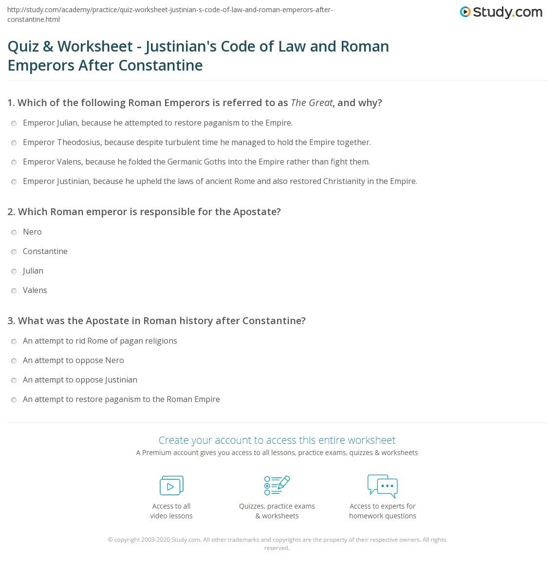 Rome History Test Worksheet