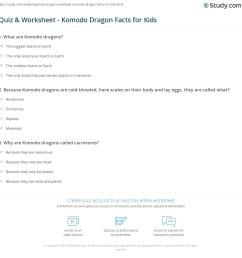 Komodo Dragon Worksheet [ 1169 x 1140 Pixel ]