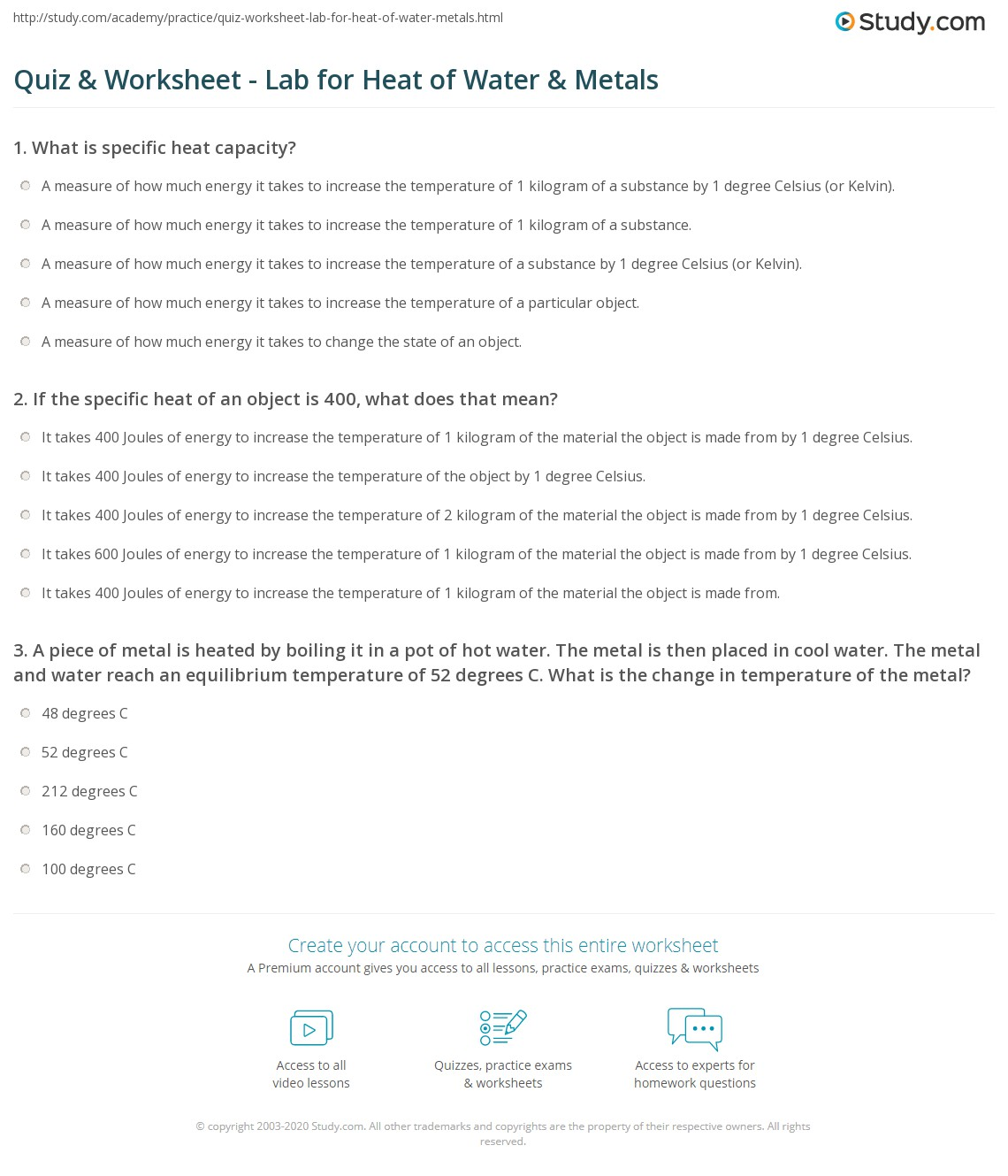 Heat And Its Measurement Worksheet Heat And Its Measurement Worksheet Answers The Best And Most