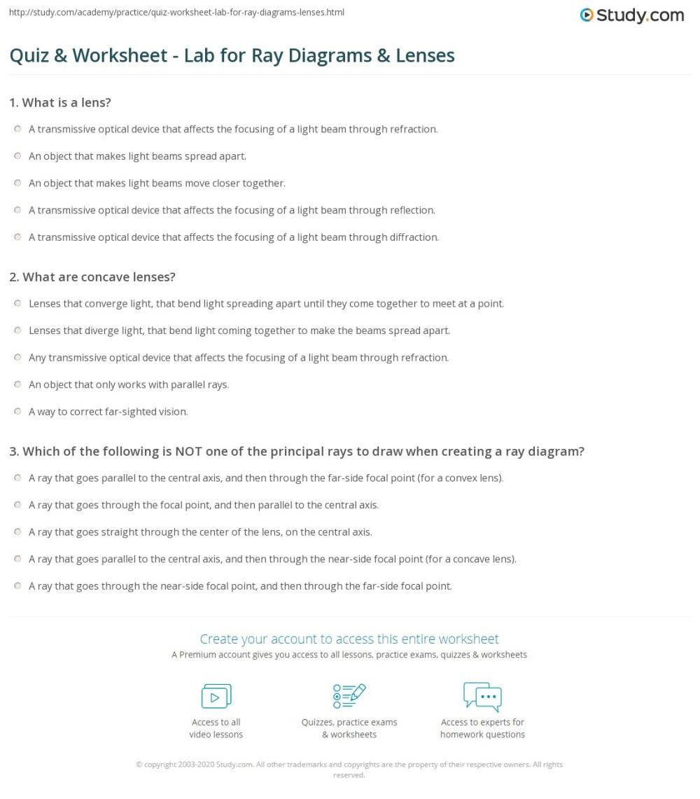 medium resolution of print ray diagrams lenses physics lab worksheet