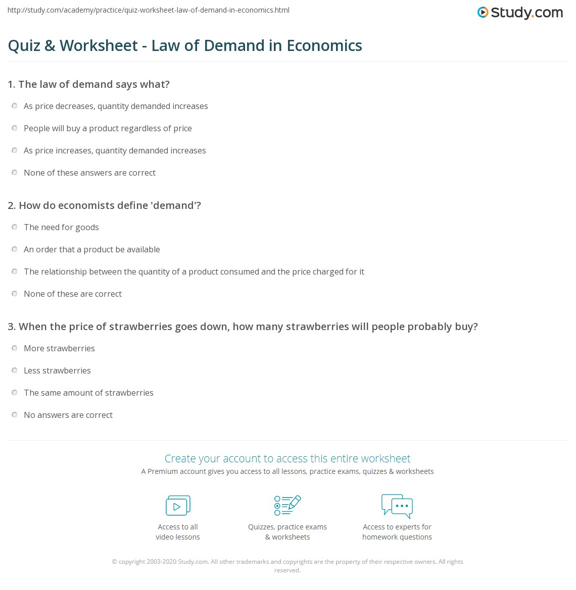 hight resolution of 35 Law Of Demand Worksheet - Worksheet Project List