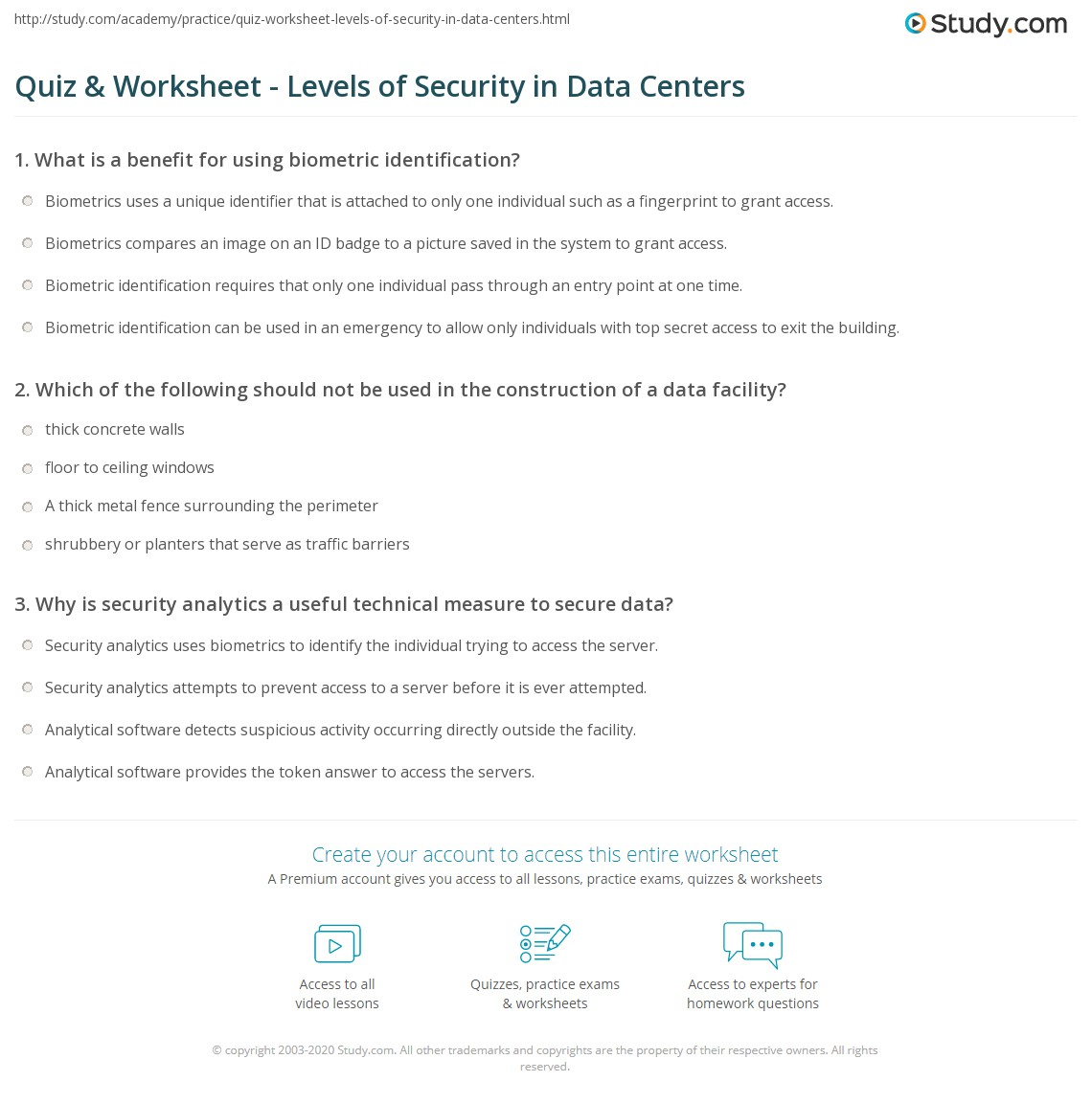 Database Security Quiz