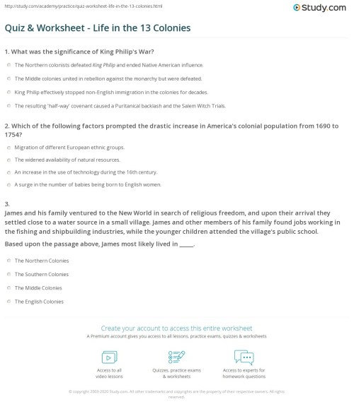 small resolution of Middle Colonies Worksheet And Grade 2   Printable Worksheets and Activities  for Teachers