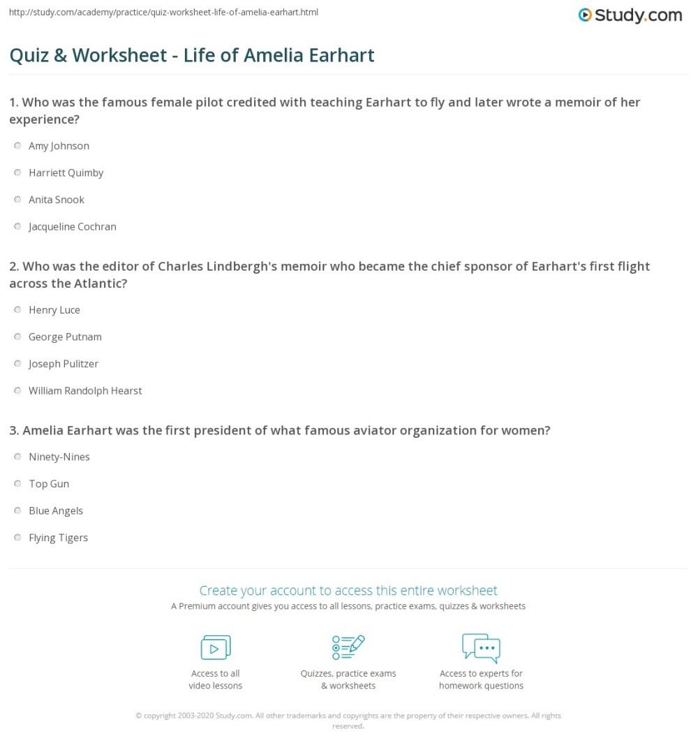 medium resolution of Amelia Earhart 2nd Grade Worksheets   Printable Worksheets and Activities  for Teachers