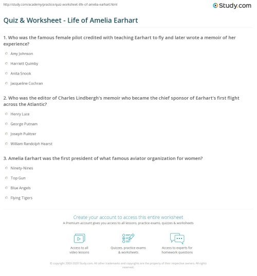small resolution of Amelia Earhart 2nd Grade Worksheets   Printable Worksheets and Activities  for Teachers