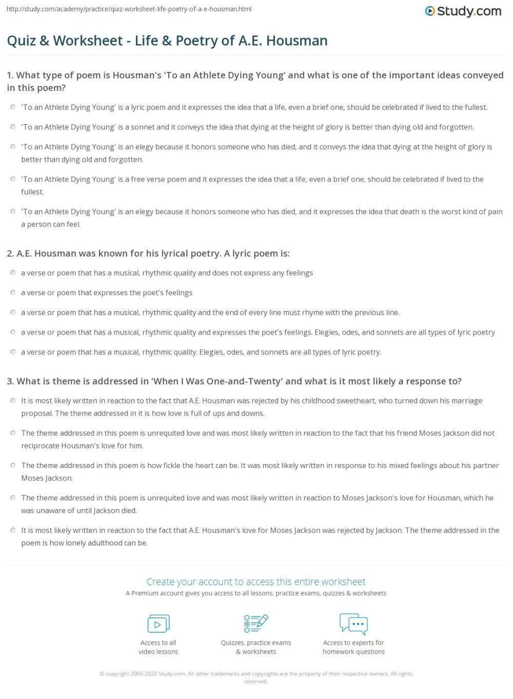 medium resolution of Worksheet Elements Of Poetry   Printable Worksheets and Activities for  Teachers