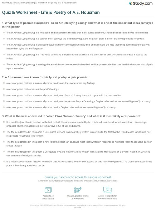 small resolution of Worksheet Elements Of Poetry   Printable Worksheets and Activities for  Teachers