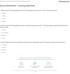 Quiz \u0026 Worksheet - Limiting Adjectives   Study.com [ 1181 x 1140 Pixel ]