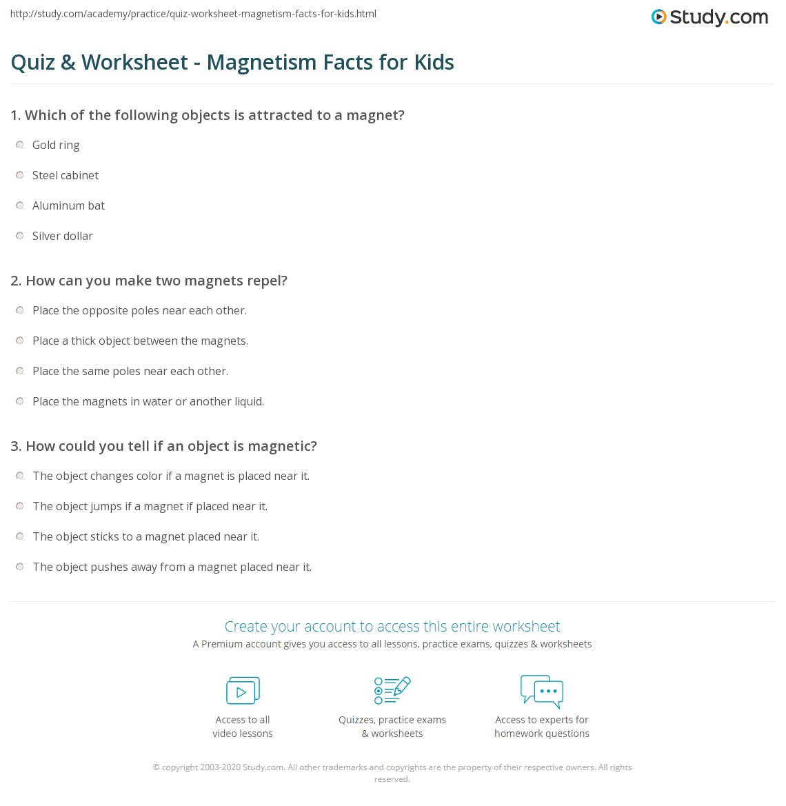 hight resolution of Magnet Worksheets For Kids   Printable Worksheets and Activities for  Teachers