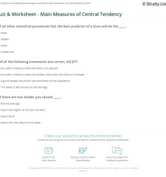 Measures Of Central Tendency Worksheet - Worksheet List [ 1121 x 1140 Pixel ]
