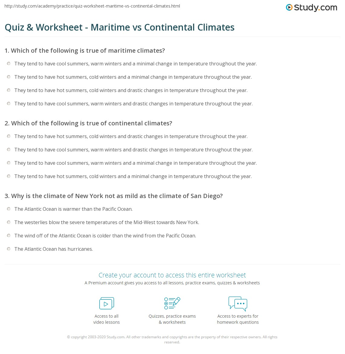 Free Elementary Weather Worksheet