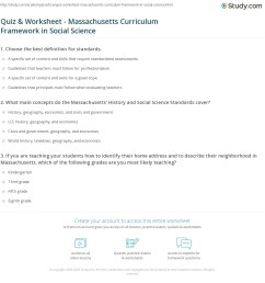 Quiz \u0026 Worksheet - Massachusetts Curriculum Framework in Social Science    Study.com [ 1188 x 1140 Pixel ]